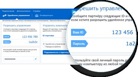 компьютерная помощь через Интернет